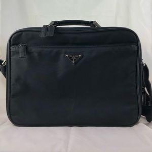 Authentic Vintage Prada Laptop Case Black Nylon